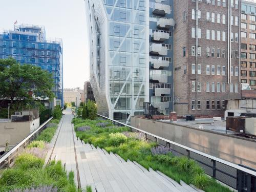 The High Line with adjacent buildings