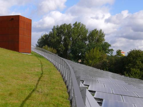 Green roof with a photovoltaic system