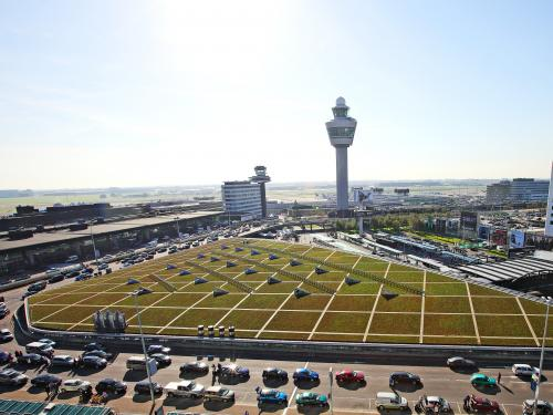 Airport with large green roof