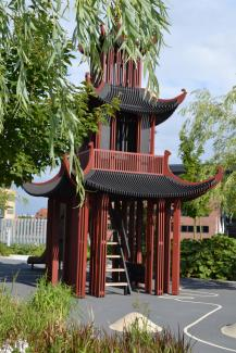 Asian-style playhouse